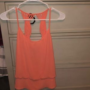 Orange Sleeveless top